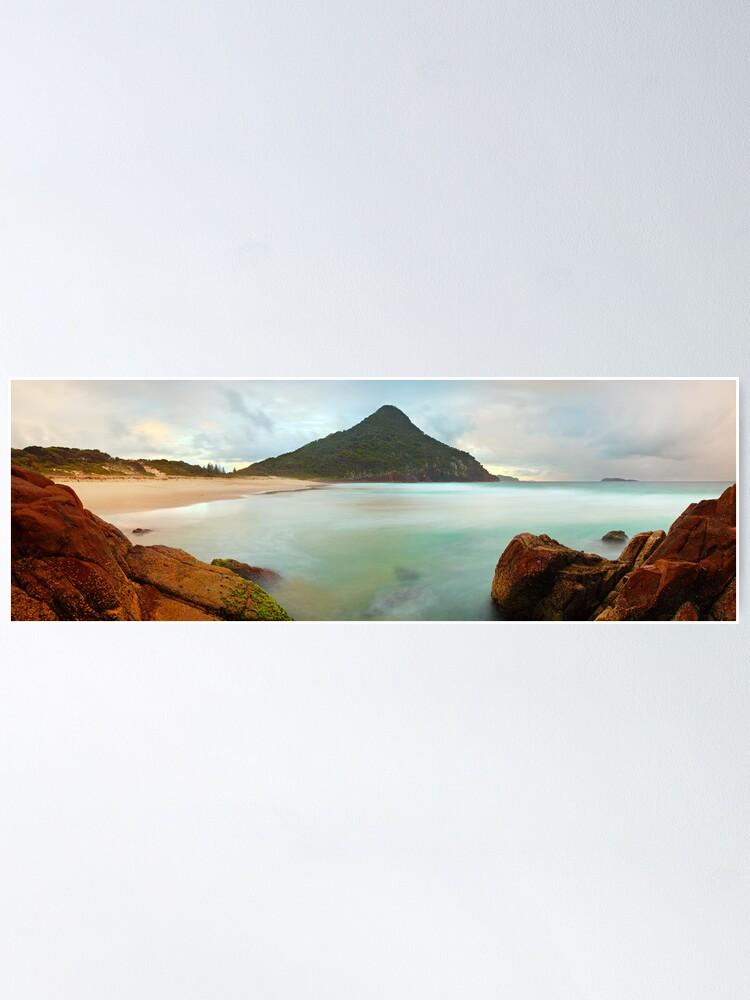 Alternate view of Zenith Beach, Shoal Bay, New South Wales, Australia Poster