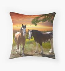Creating Summer  Throw Pillow