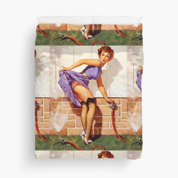 Gil Elvgren Pin-Up Duvet Cover