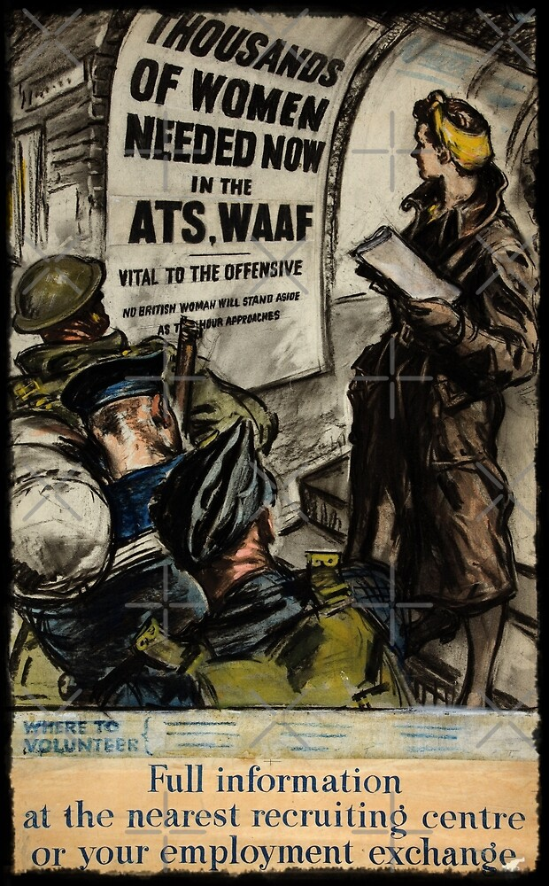 WAAF Recruiting Poster by diane  addis