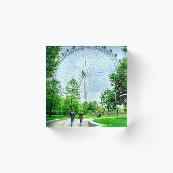 London Eye Sees All Acrylic Block