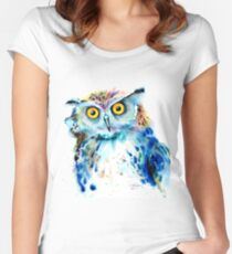 """Owl"" Women's Fitted Scoop T-Shirt"