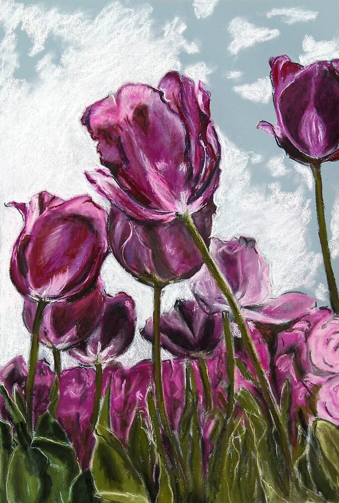 Purple Tulips by Marilyn Brown