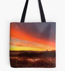Ebey Slough Sunrise Tote Bag
