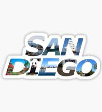 San Diego Letters Sticker