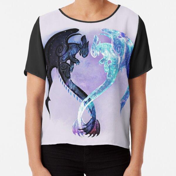 Dragon Heart Toothless and Light Fury Chiffon Top