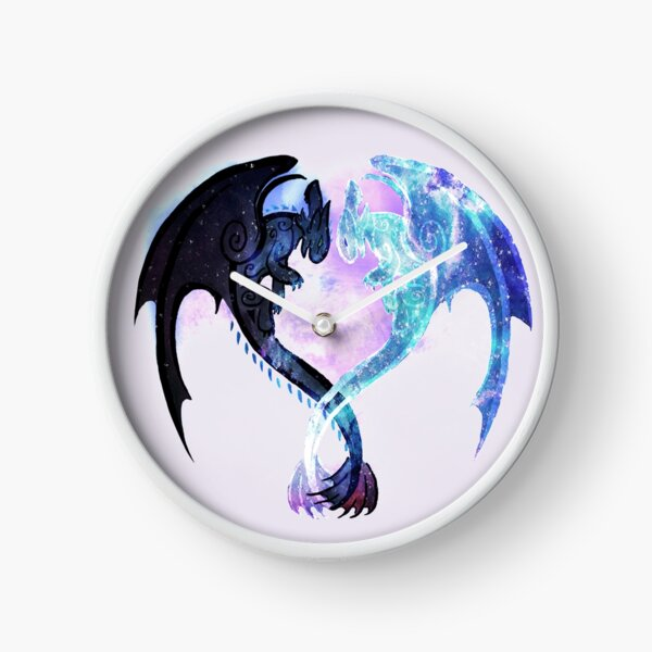 Dragon Heart Toothless and Light Fury Clock