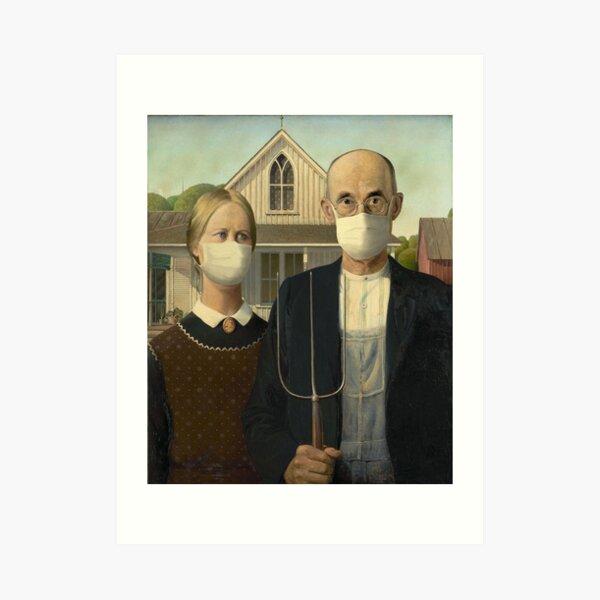American Gothic Coronavirus Art Print