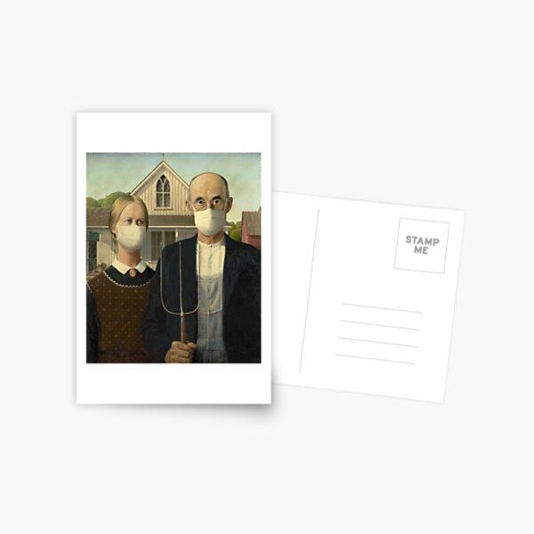 American Gothic Coronavirus Postcard