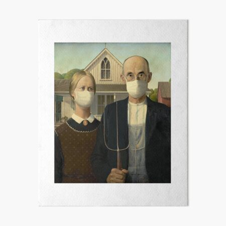 American Gothic Coronavirus Art Board Print