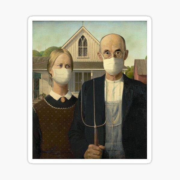 American Gothic Coronavirus Sticker
