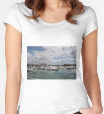 Quiet Marina Reflections Women's Fitted Scoop T-Shirt