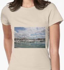 Quiet Marina Reflections Womens Fitted T-Shirt