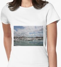 Quiet Marina Reflections Women's Fitted T-Shirt