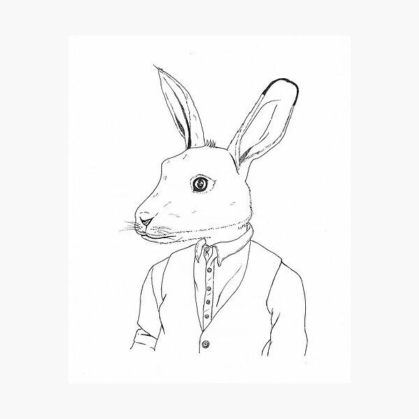 The Bunny gentleman Photographic Print