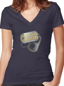 Battlefield Veteran Women's Fitted V-Neck T-Shirt