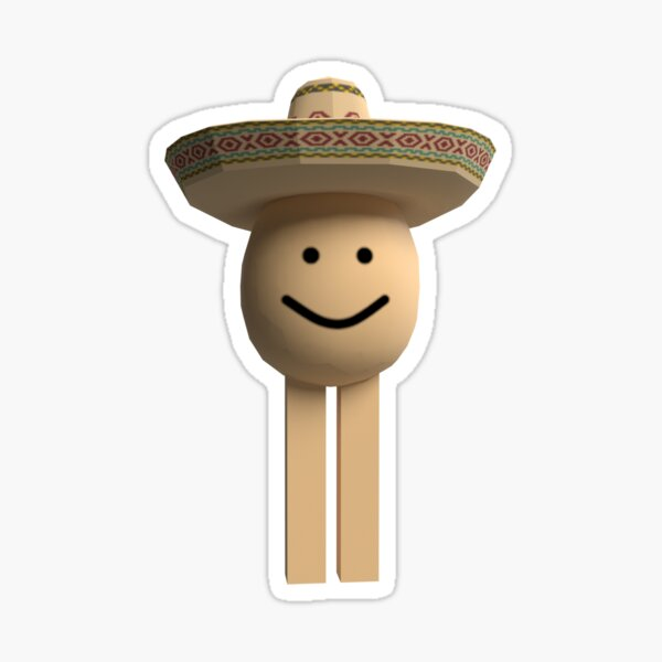 Buying The Big Head Roblox Hat Youtube Roblox Hat Stickers Redbubble