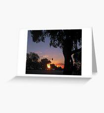 Sunset in Mitcham Greeting Card