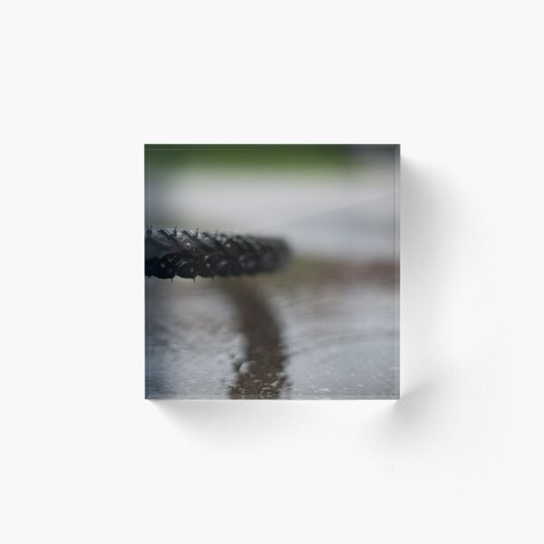 Wet when slippery Acrylic Block
