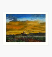 Riding Off Into The Sunset Calendar Art Print