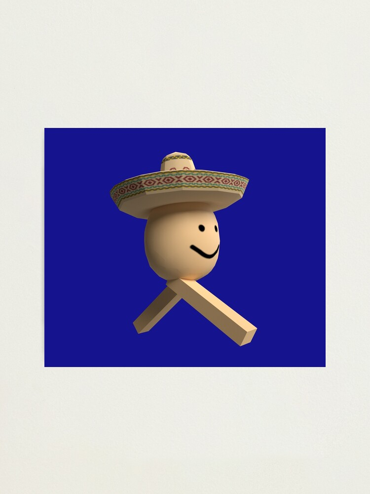 Roblox Poco Loco Egg With Legs Meme Photographic Print By