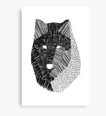 Wolf Mask Print Canvas Print