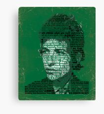 Typographic Icons - Bob Dylan Canvas Print