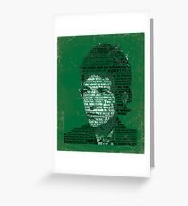 Typographic Icons - Bob Dylan Greeting Card