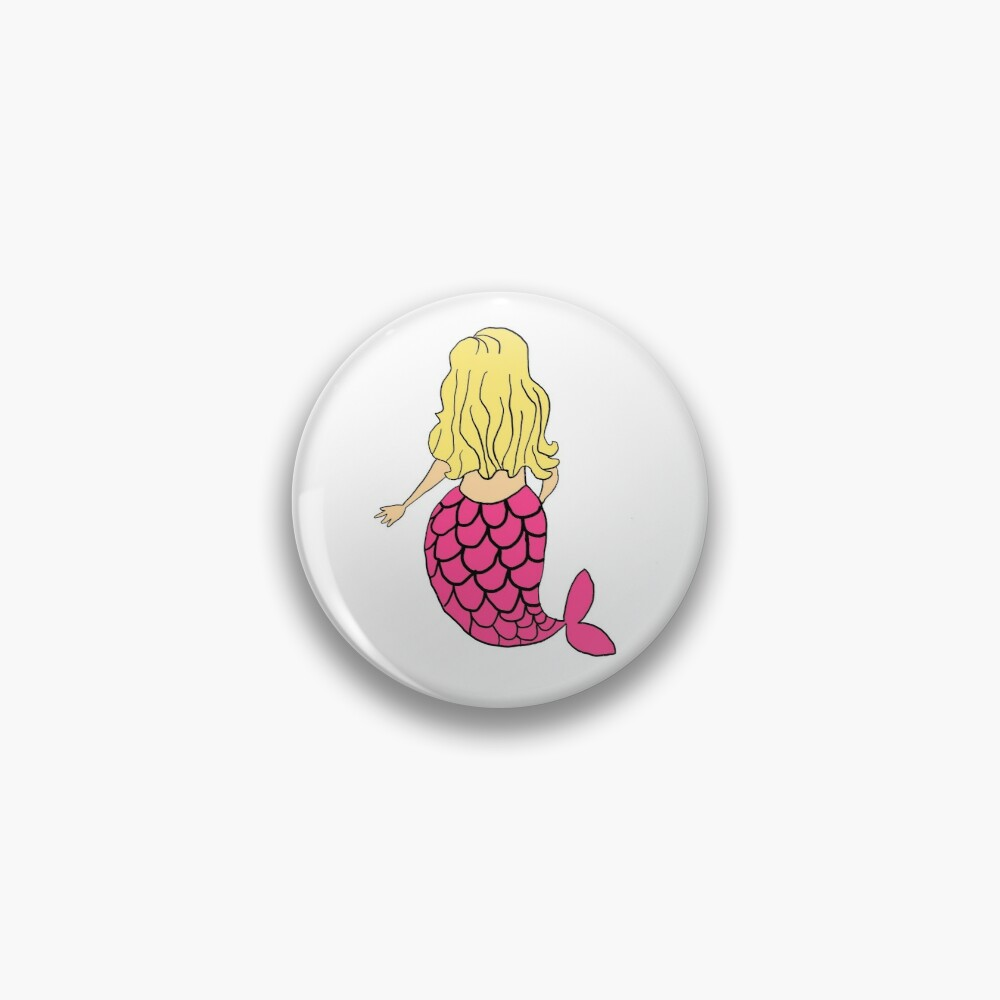 Little Mermaid Pink Blonde Pin
