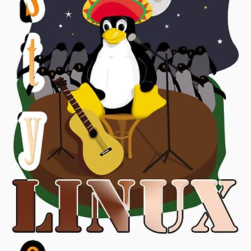 Funny night TUX (linux) by xoguar