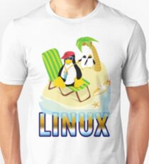 Funny with TUX (linux) Unisex T-Shirt