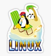 Funny with TUX (linux) Sticker