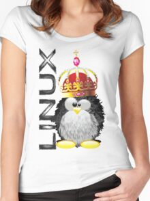 Linux - King Women's Fitted Scoop T-Shirt