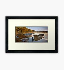 Boats at Hald Framed Print