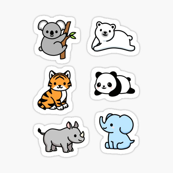 Endangered Animal Sticker Pack Sticker