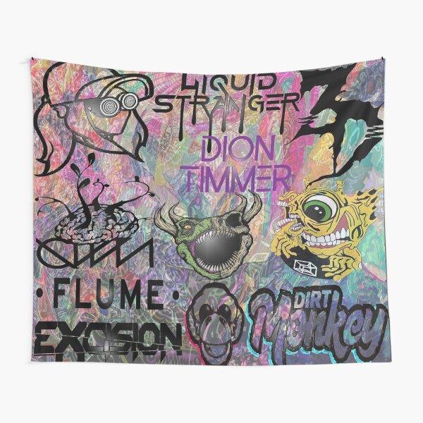 EDM Artist Collage Design Tapestry