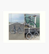 Beach Bike Art Print