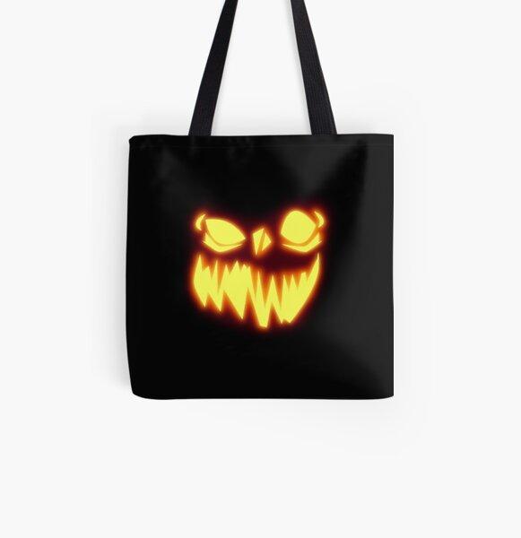 Jack O' Lantern All Over Print Tote Bag