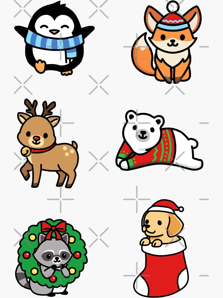Holiday Animals by littlemandyart