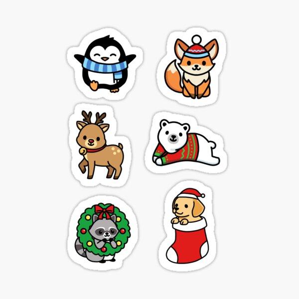 Holiday Animals Sticker