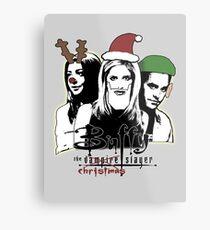 Buffy the Christmas Slayer! Metal Print