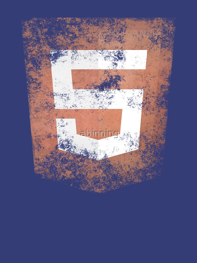 HTML5 Logo Distressed | Unisex T-Shirt
