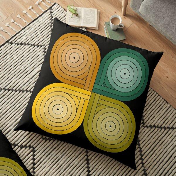Infinite circuit Floor Pillow