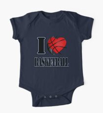 I love Basketball T-shirt One Piece - Short Sleeve