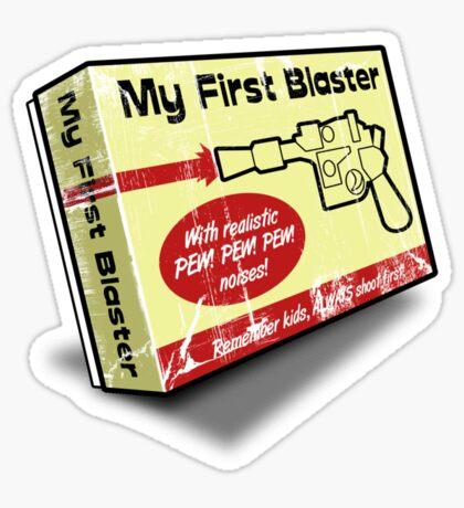 My First Blaster Sticker
