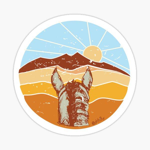 Desert Western Sticker Sticker