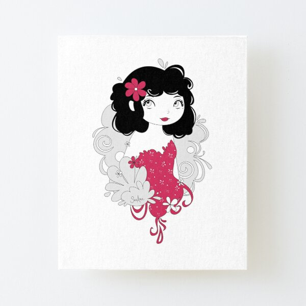 Miss Peronelle Canvas Mounted Print