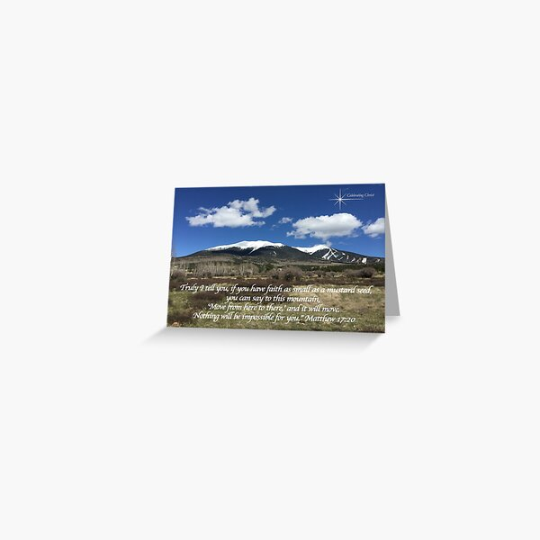Moving Mountains Horizontal Greeting Cards with Verse - From ccnow.info Greeting Card