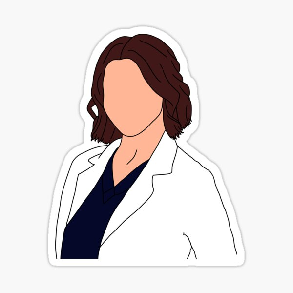 Amelia Shepherd Outline Sticker