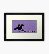 Poe and Raven Framed Print